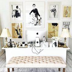 Workspace home interior design inspiration. Desk bedroom goals fashion office