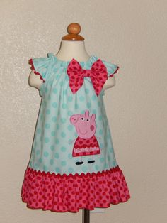 Peppa Pig Flutter Sleeves Dress by Just4Princess on Etsy, $38.00