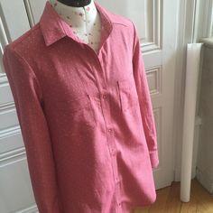 14 juillet productif // Nutellise // Robe chemise Alder mixée avec les manches de la Archer de Grainline Studio // Tissu Chambray Raw Dots Cerise Les Trouvailles d'Amandine