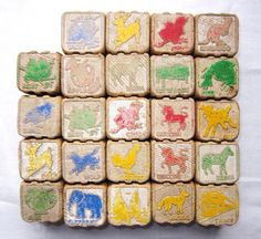 Antique 1930-40's Wooden Blocks for your play & creative time.