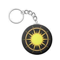 Black Button Keychain  with the Sun - christmas keychains family merry xmas personalize gift idea