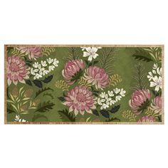 Pimlada Phuapradit Wildflowers Olive green Desk | DENY Designs Home Accessories