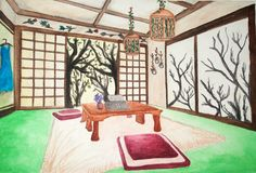 Mori-themed living room by Rae Abigael Caacbay Design Art, Interior Design, Oriental, Toddler Bed, House Design, Japanese, Living Room, Homes, Furniture