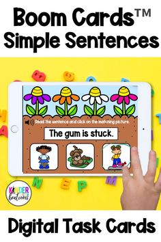 Engage your students and practice sight words, blends, digraphs, and CVC words with these digital task cards! Boom Cards™ are interactive, self-checking digital task cards that make learning fun! Perfect for kindergarten and first grade students.