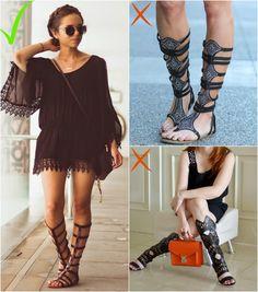 Como NÃO usar gladiadora - dicas e truques para fazer bonito | luvmay.com.br