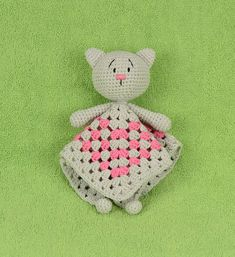 Security blanket Crochet Cat crochet baby toy baby safety