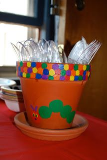 playing outside of the box: Very Hungry Caterpillar birthday party