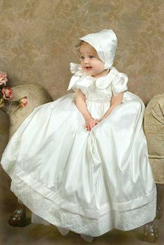 Virginia Silk Christening Gowns for Girls Baby Christening Outfit, Christening Gowns For Girls, Baptism Gown, Christening Gifts, Catholic Baptism Dresses, Flower Girl Dresses, Baby Dresses, Baptisms, Heirloom Sewing