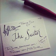 Handwritten business cards.