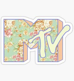 Mtv stickers featuring millions of original designs created by independent artists. Decorate your laptops, water bottles, notebooks and windows. Mtv Music Television, Nostalgic Pictures, Homemade Stickers, 80s Aesthetic, Music Logo, Vintage Soul, Pastel Floral, Custom Logos, Sticker Design