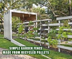 garden fence from pallets