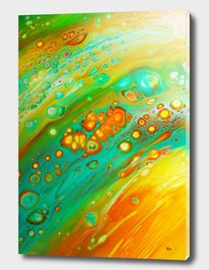 Discover «Orange cells», Exclusive Edition Acrylic Glass Print by Annemarie Ridderhof - From 80€ - Curioos