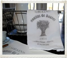 *The Graphics Fairy LLC*: Crafty Project & Printable - French Grain Sack Towel