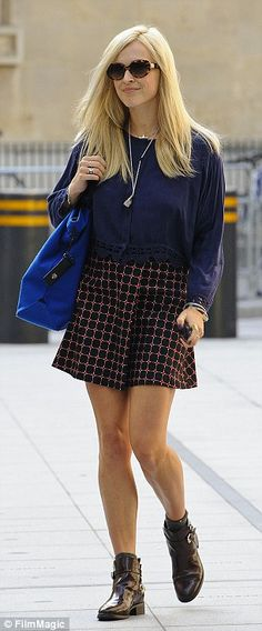 Fearne Cotton sighted at BBC Radio One Studios on September 4, 2013 in London, England