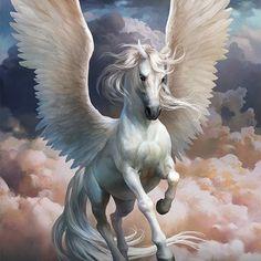 Murka - Slots Era - Murka Slots Era on Behance - Mythical Creatures Art, Mythological Creatures, Magical Creatures, Pegasus Tattoo, Greek Mythology Tattoos, Myths & Monsters, Horse Wallpaper, Winged Horse, Elfa