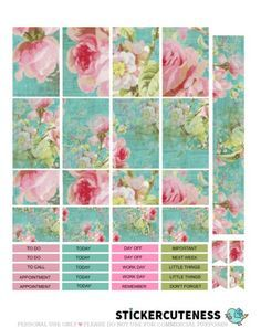 Free Printable Roses are Blue Planner Stickers from StickerCuteness