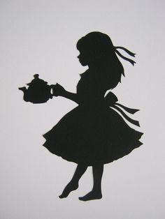 Gallery For > Alice In Wonderland Silhouette Vector