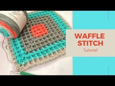 The waffle stitch is a super easy stitch to learn. It uses a combination of double crochet and front post double crochet to make the waffle texture. Free Crochet, Crochet Hats, Front Post Double Crochet, Waffle Stitch, Easy Stitch, Crochet Blanket Patterns, Waffles, About Me Blog, Make It Yourself