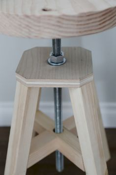 Ana White | Build a Adjustable Height Wood and Metal Stool, I love building things!!!!! DIY furniture, the DIY life | Free and Easy DIY Project and Furniture Plans