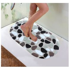 Soft PVC Non-slip Bath Mats Pebble Shower Anti Slip Bathroom Carpet Toilet Mats For Bathroom Floor Mats Bathroom Rug Bathroom Carpet, Bathroom Toilets, Bathroom Flooring, Bathroom Wall Decor, Bathroom Mat, Montenegro, Puerto Rico, Georgia, Toilet Mat