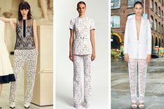 The Lace Trouser: Looks from the resort collections of (from left) Erdem, Michael Kors and Givenchy. from tmagazine