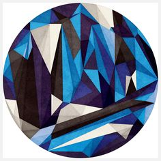 Anai Greog - Blue mandala --- abstracted, and clearly not from the inside out. A little... jangly.