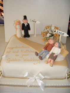 10 increíbles decoraciones de tortas para bodas de oro - IMujer