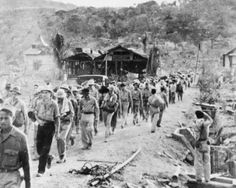 On the march  After the surrender, it didn't take long for the major atrocities to start, with the execution of 350 to 400 Filipino soldiers. One of the problems may have been that the Japanese simply didn't know what to do with so many prisoners.   Orders came down that the POWs were to be marched to Balanga. From there they were marched to San Fernando, where they were then crammed into trains and taken to Capas. This was followed by a further nine-mile march to the POW camp.