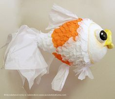 Goldfish Pinata  Made To Order by wunderlandhome on Etsy
