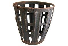 French Metal Vintner's   Basket on OneKingsLane.com