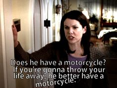 Advice from Lorelai.