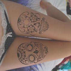 Sugar Skull tattoos. OMFG!!!!! It's so cool...
