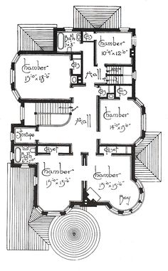 Architecture Design Plans an old and traditional victorian with it's floor plan as well as