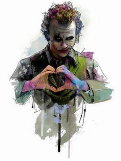 Heath Ledger as Joker by Katt Phatt Der Joker, Heath Ledger Joker, Joker Art, Joker Batman, Superman, Joker Comic, Joker Images, Joker Pics, Joker Pictures