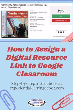 "This is a common question from my buyers. My high school TPT digital learning resources include a ""how to"" assign a copy of the resource link tutorial in the pdf, but if you're looking for a visual step-by-step, you've found the place. Check it out! #googleclassroom"