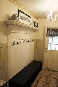 DIY entryway coat rack - Google Search