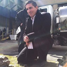 Jim Caviezel BTS on Roosevelt Island meeting with fans during a short break while filming SE422, YHWH on March 18, 2015 (Credit to leeyebrow on IG), Original pictures should be credited to rickieren109,