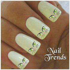 Chat Nail Decal 20 vinyle adhésif Stickers ongles par NailTrends