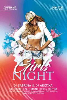 Girls Night Party Free Flyer Template - http://freepsdflyer.com/girls-night-party-free-flyer-template/ Enjoy downloading the Girls Night Party Free Flyer Template created by Bestofflyers!   #Club, #Dance, #Electro, #Girls, #Music, #Night, #Nightclub, #Party, #Techno