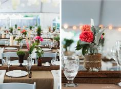 Since white chairs will be used, nice to see how they can be warmed w.brown Backyard Wedding Decorations