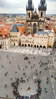 Týn Church . Old Town Square . Prague
