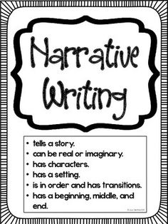 Narrative Success Criteria- This poster is perfect to have