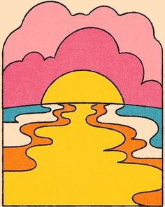 psychedelic art dont forget to watch the sunset. Cute Canvas Paintings, Small Canvas Art, Mini Canvas Art, Diy Canvas, Easy Canvas Painting, Pop Art Paintings, Simple Acrylic Paintings, Easy Paintings, Hippie Painting