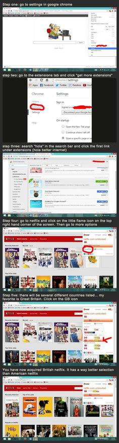 How to get British Netflix (or other countries) for free through Google Chrome
