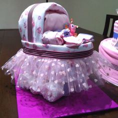 Experimental pram nappy cake...