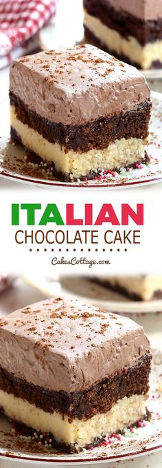 A combination of chocolate marble cake and cheesecake with a creamy chocolate topping this Italian Chocolate Cake is an absolute must try Desserts Italian Chocolate Cake Italian Chocolate Cake Recipe, Chocolate Marble Cake, Chocolate Topping, Chocolate Desserts, Chocolate Pudding, Chocolate Chips, Chocolate Sheet Cakes, Chocolate Cheescake, Chocolate Cake Mix Recipes