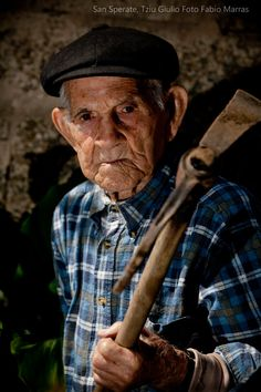 Tzio Giulio, a 100 years old man that live in S.Sperate, Sardinia - Italy