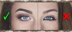 Artist Tips for Applying Eyeliner To make your eyes look BIGGER, use highlighters and shadows to make them pop. DO NOT USE BLACK EYELINER. It will make your eyes look smaller as seen on the right side. – Das schönste Make-up All Things Beauty, Beauty Make Up, Diy Beauty, Beauty Hacks, Eyeliner Designs, Makeup Designs, Makeup Artist Tips, Makeup Artists, Black Eyeliner