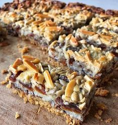 Delicous and Easy Magic Slice Recipe - VJ cooks Lamb Recipes, Sweet Recipes, Cooking Recipes, Fruit Recipes, Dessert Recipes, Desserts, Chocolate Weetbix Slice, Chocolate Chips, Lamb Shanks Slow Cooker