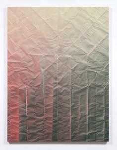 Tauba Auerbach Untitled (Fold) 2013 Acrylic on canvas/ wooden stretcher 72 x 54 inches  182.9 x 137.2 cm
